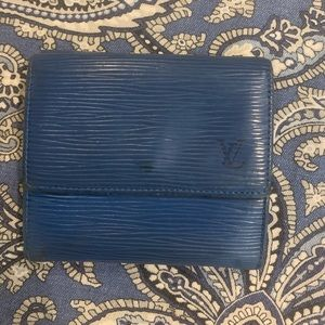 Louis Vuitton Epi blue square wallet